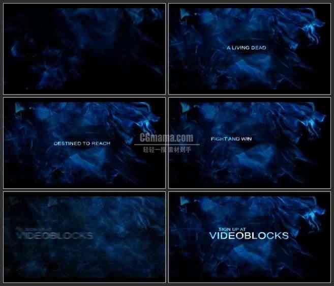 AE3386-蓝色谜团 文本LOGO展示 宣传片
