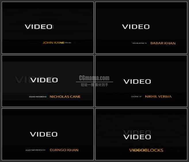 AE3391-闪动的镜头 文本视频展示