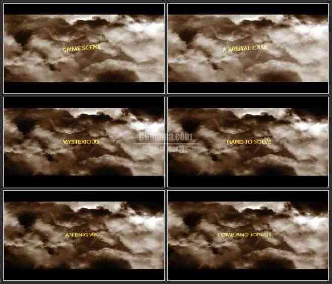 AE3396-阴暗的天空 文本展示 宣传片