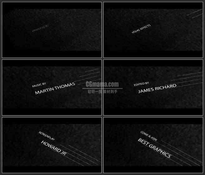 AE3405-黑暗空间 文字排版动画 文本展示