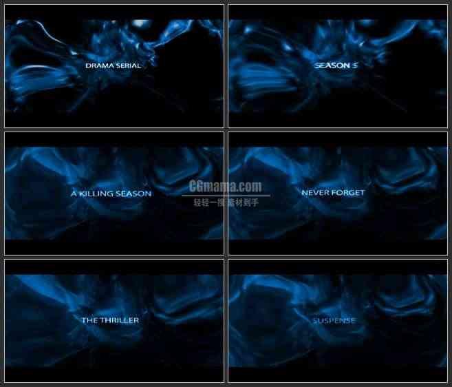 AE3408-蓝色抽象图案动画 文本展示 宣传片