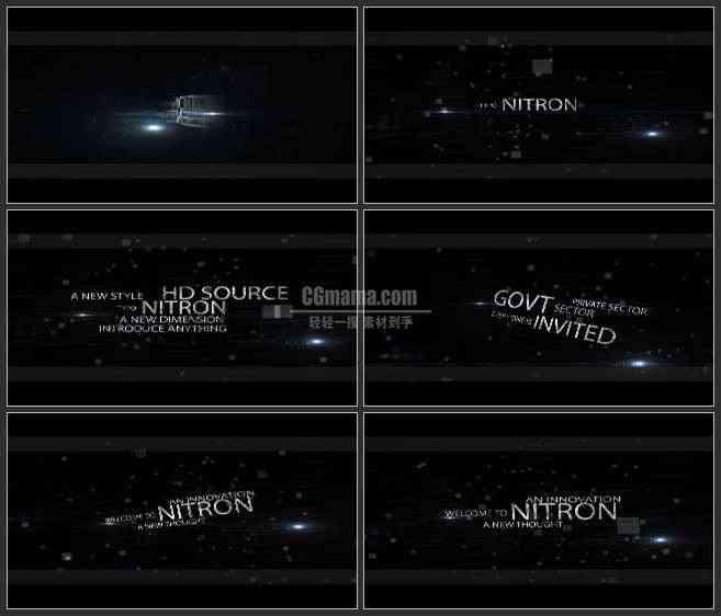 AE3415-方块粒子空间 文本展示 宣传片