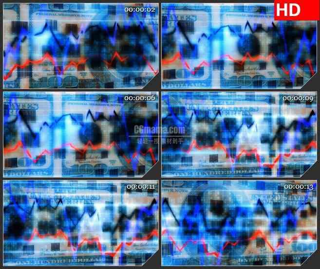 BG3663金融元素 经济led大屏背景高清视频素材