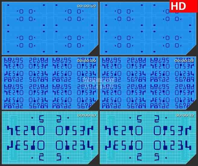 BG3669镜像数字led大屏背景高清视频素材