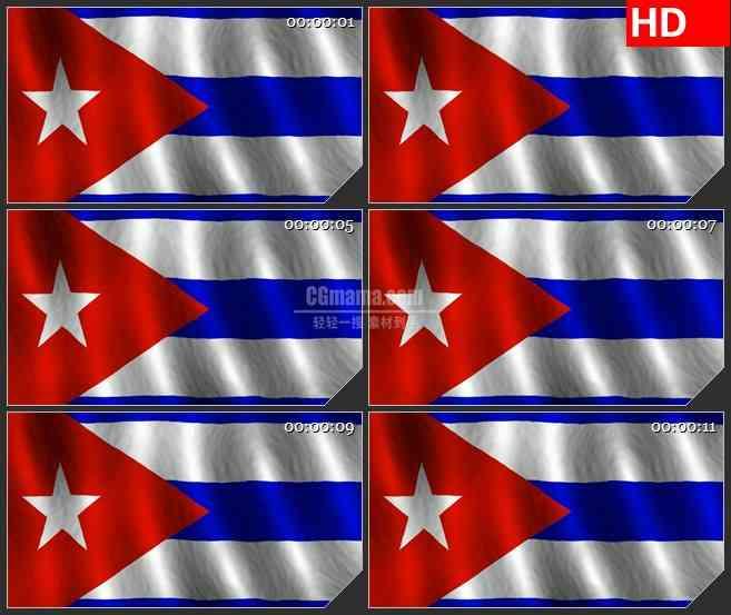 BG3676库班国旗led大屏背景高清视频素材