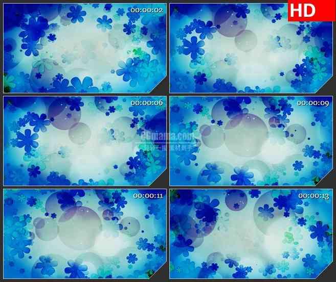 BG3686蓝色花朵 动态光背led大屏背景高清视频素材