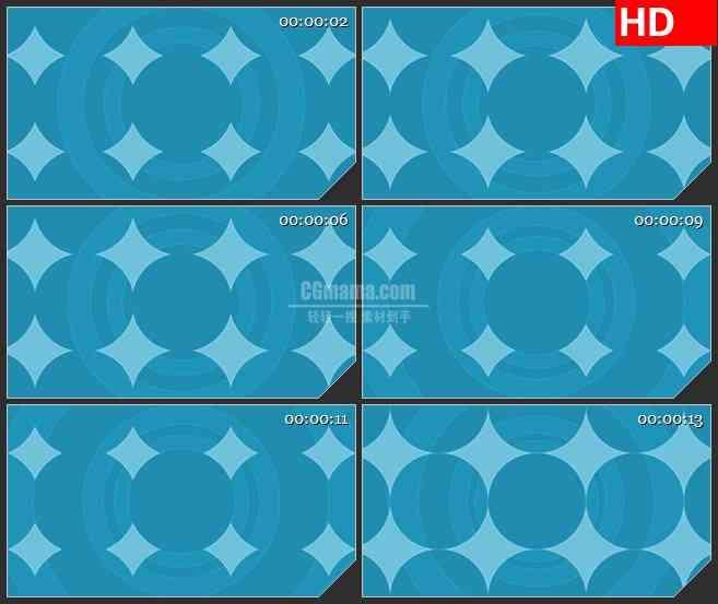 BG3689蓝色渐变图形led大屏背景高清视频素材