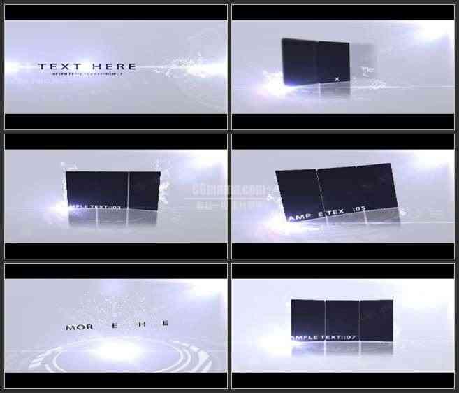 AE3434-典雅白色系列 图文展示 宣传片 推广