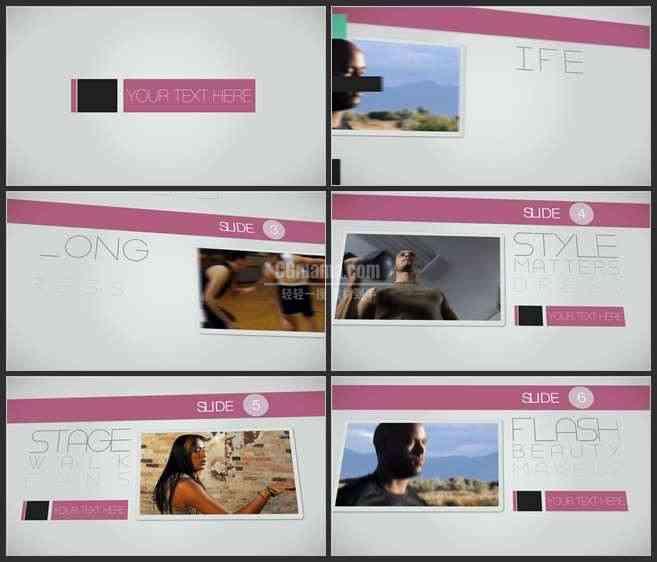 AE3441-简洁风企业类宣传推广 图文视频展示 推广介绍片