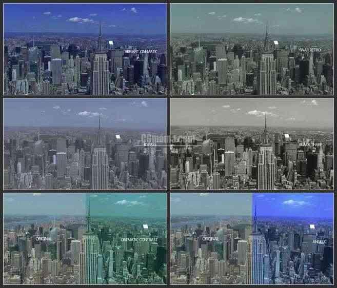 AE3449-现代摩登城市 高楼林立 文本展示 城市宣传 纪录片