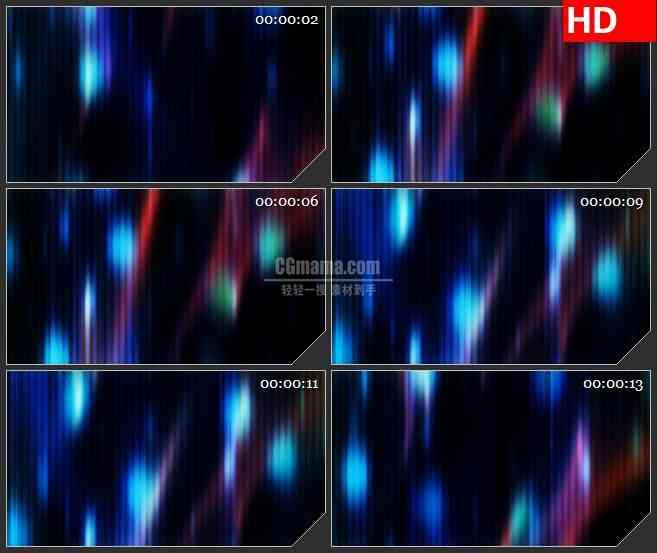 BG3705冷色调光线竖光斑运动led大屏背景高清视频素材