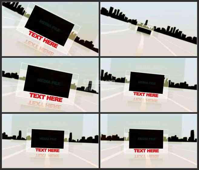 AE3450-城市剪影 图文展示 宣传片