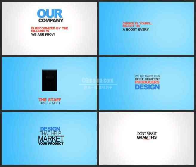 AE3452-文字排版动画 图文视频展示 企业宣传推广