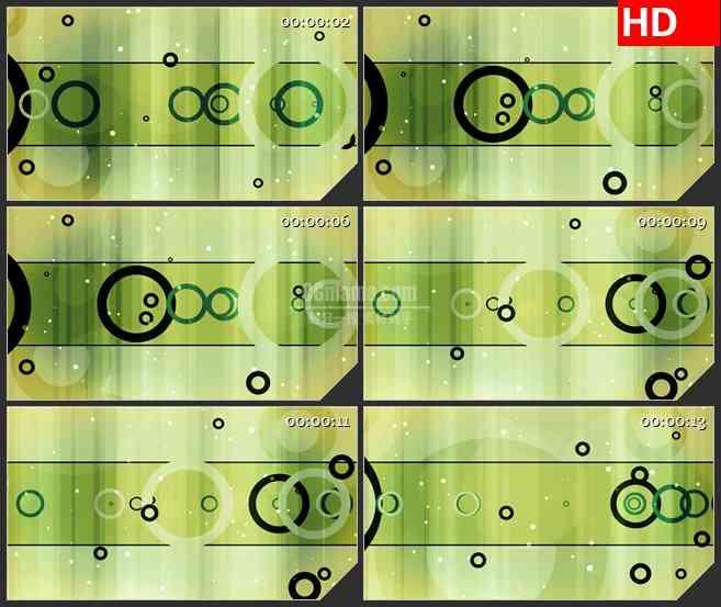 BG3714绿色光背 大小变化的圆环led大屏背景高清视频素材