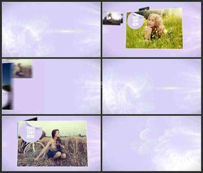 AE3465-优雅粒子花朵儿 图文展示 幻灯片展示 写真