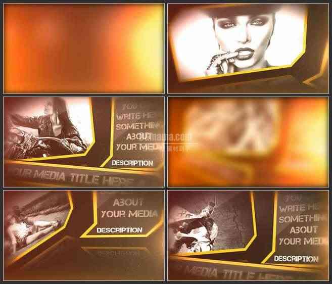 AE3479-朦胧的灯光 图文展示 宣传介绍片