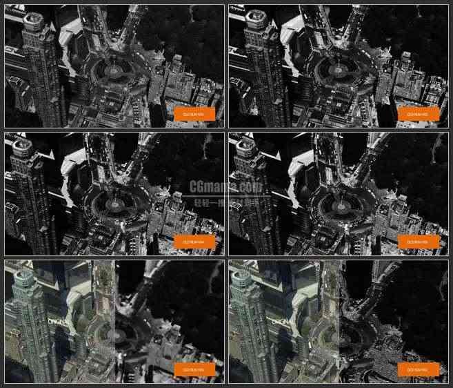 AE3481-黑白与彩色的对比 视频展示 城市宣传 纪录片