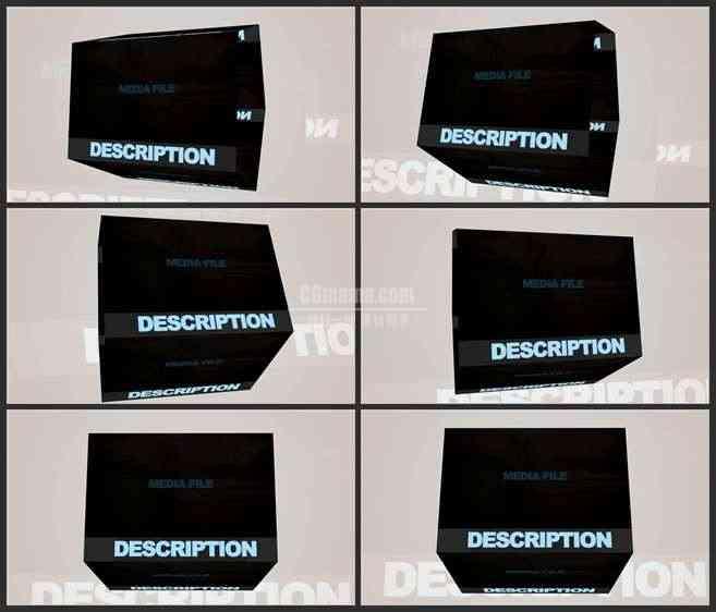 AE3488-旋转的神秘盒子 图文展示 宣传推广