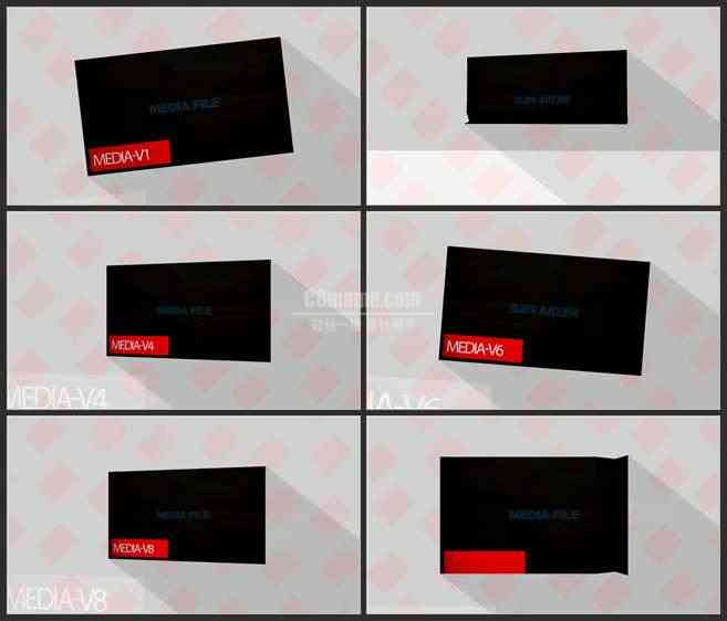 AE3495-明快背景 图文视频展示 宣传片