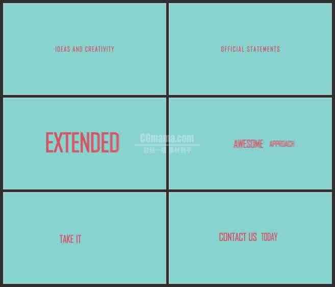AE3499-旋转的字体 文本展示 宣传片