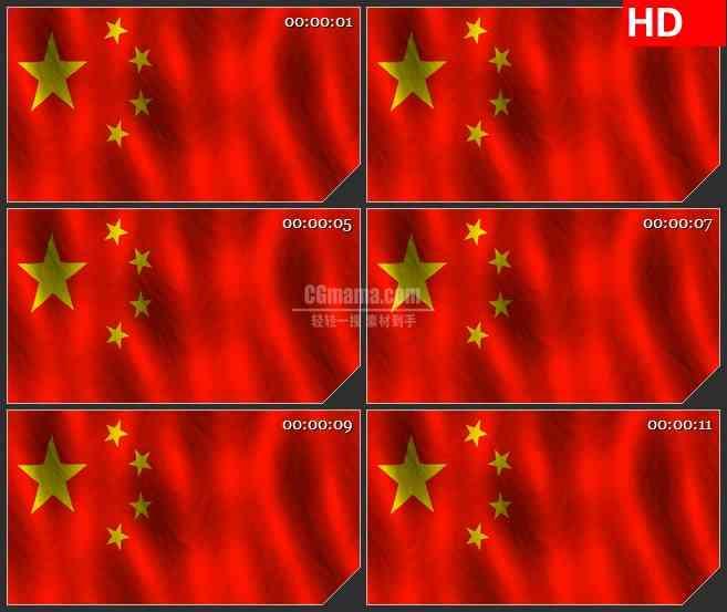 BG3733飘动的五星红旗led大屏背景高清视频素材