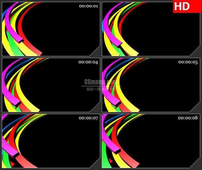 BG3739七彩的虹led大屏背景高清视频素材