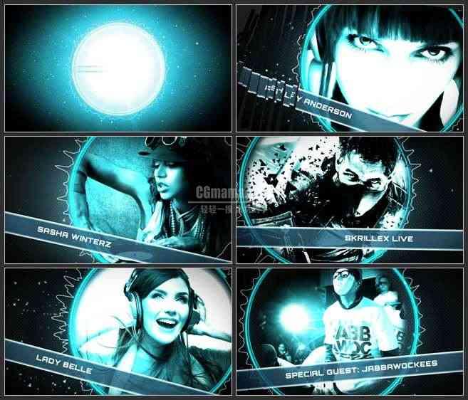 AE3514-能量光球 文本LOGO展示 宣传片头