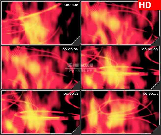 BG3747燃烧的烈火led大屏背景高清视频素材