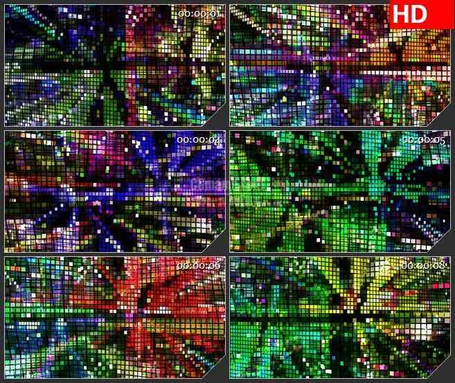 BG3767闪烁的马赛克墙led大屏背景高清视频素材
