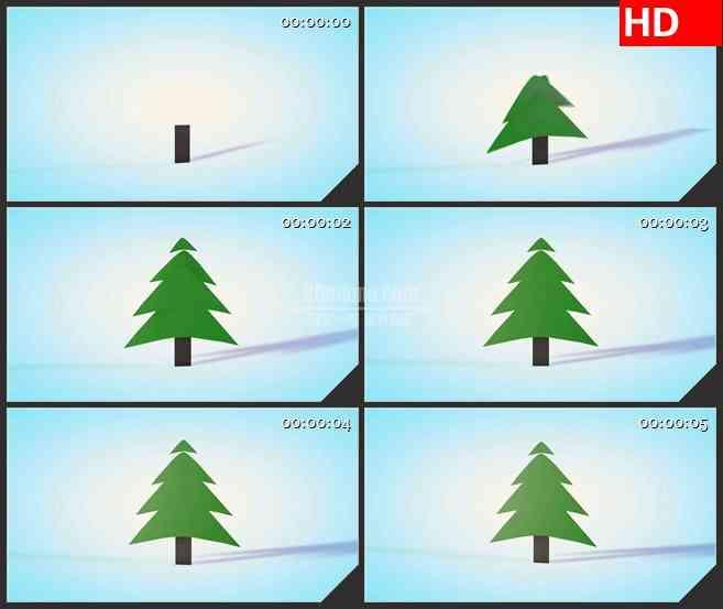BG3781圣诞树卡通动画led大屏背景高清视频素材