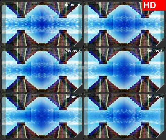 BG3790世界奇观 金字塔 镜像效果led大屏背景高清视频素材
