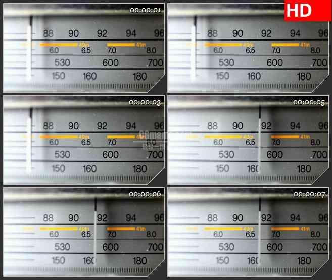 BG3791收音机表盘led大屏背景高清视频素材