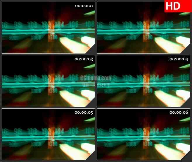 BG3793收音机频道led大屏背景高清视频素材