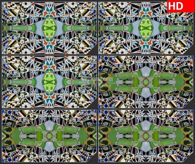 BG3803陶瓷的蒙太奇 2led大屏背景高清视频素材