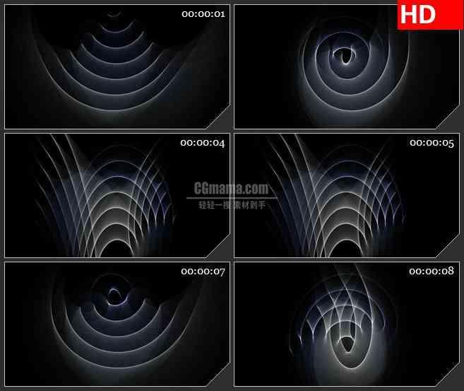 BG3813唯美抽象曲线 动态光背led大屏背景高清视频素材