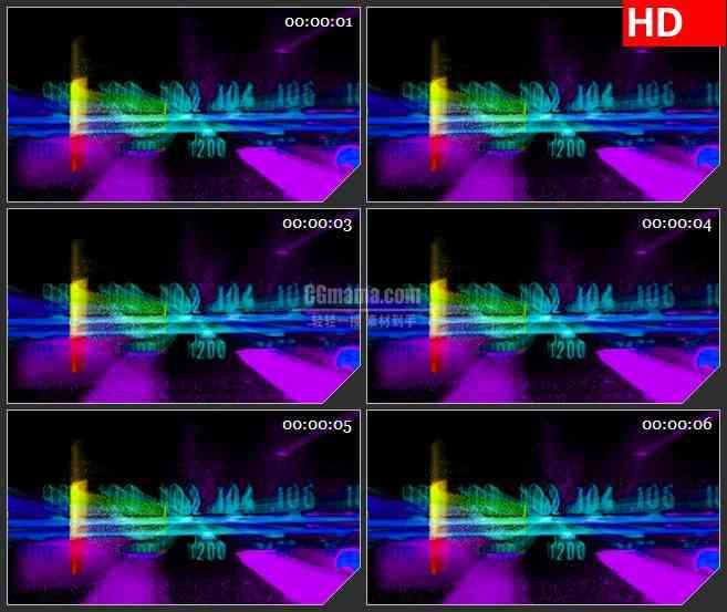 BG3815无线电台扫描led大屏背景高清视频素材