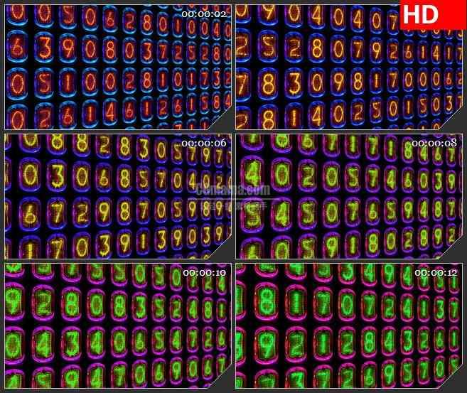 BG3827线圈计数器led大屏背景高清视频素材