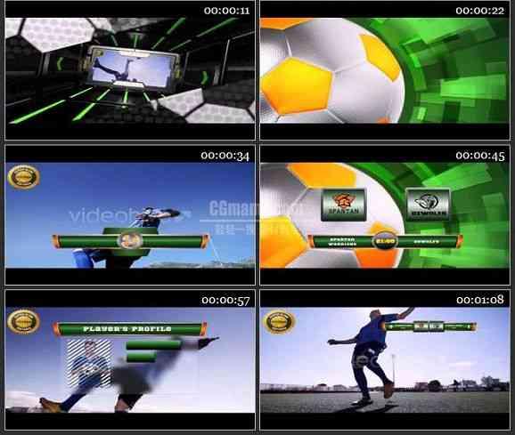 AE2217-体育足球栏目电视包装模板