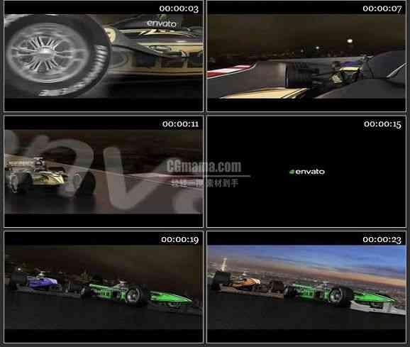 AE2245-赛车比赛LOGO标志展示