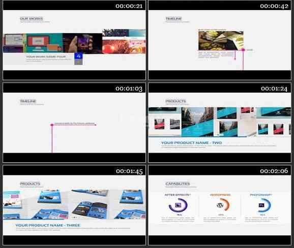 AE2258-商务类优雅的公司企业宣传