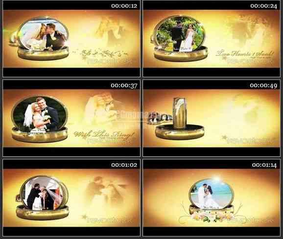 AE2280-我们的结婚戒指婚礼预告片头 相册