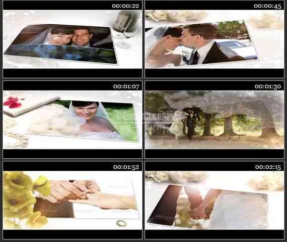 AE2297-白色玫瑰风格婚礼相册