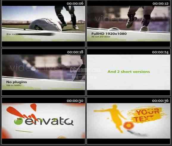 E2333-体育足球比赛电视包装视频展示