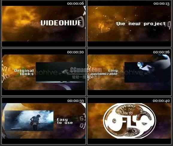 AE2337-飞越梦想广告片头 图文展示