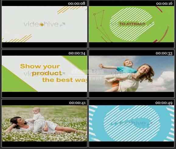 AE2347-图形动画过渡广告片头