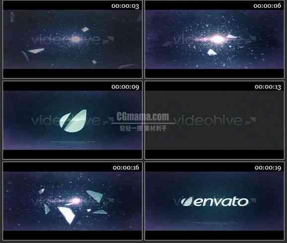 AE2350-水晶玻璃会聚成LOGO标志展示