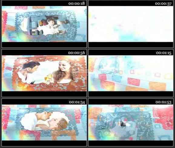 AE2351-剪纸风格婚庆相册