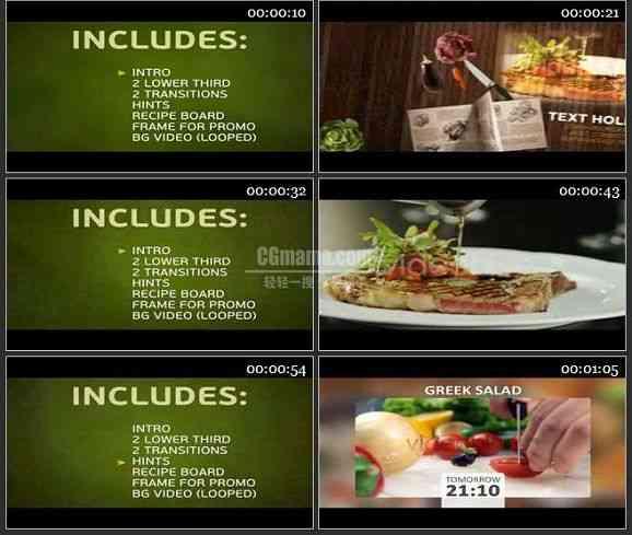 AE2398-烹饪美食电视节目包装模板