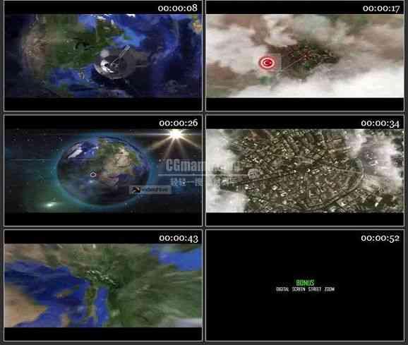 AE2407-卫星定位地球缩放 片头介绍