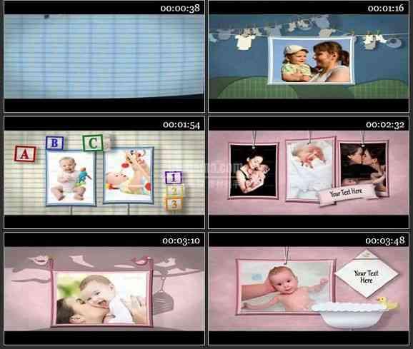 AE2408-可爱的宝贝儿童卡通相册